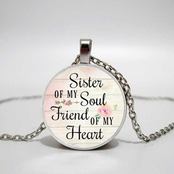 SCHWESTER von meine Seele FREUND von mein Herz, Halskette Anhänger, Inspirational charme halskette, geschenk für Besten Freund, Schwester schmuck