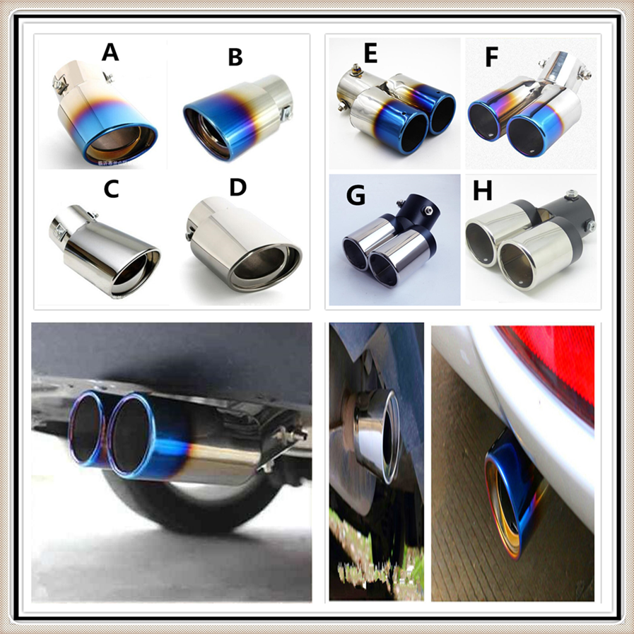 Voiture Exhaust Tip Muffler Pipe Trim CHROME POUR OPEL CORSA ASTRA VECTRA