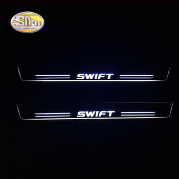 SNCN LED Door sill plate for Suzuki Swift LED moving light scuff pedal Outside door sill welcome lights car styling led moving door scuff for land rover evoque 2013 15 door sill plate led welcome pedal led brand logo drl accessories