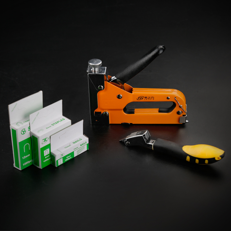 Multitool Nail Staple Gun Furniture Stapler For Wood Door Upholstery Framing Rivet Gun 3-way Manual Heavy Duty Hand Nail Gun