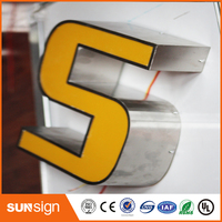 Wholesale LED Lighted Letter Sign Stainless Steel 3d Channel Letters
