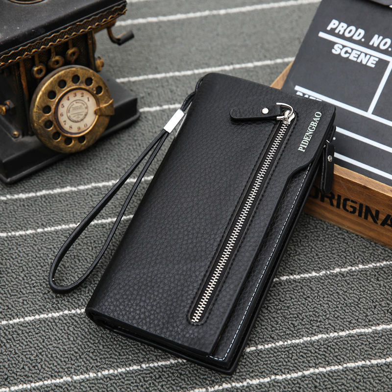 Factory direct sales of new business men long wallet handbag handbag zipper bag trade spot