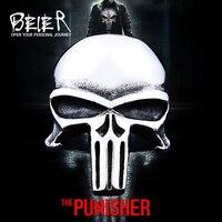 Beier nieuwe winkel 316L Rvs mannen ring de Punisher skull ring punk biker mode-sieraden BR8-407