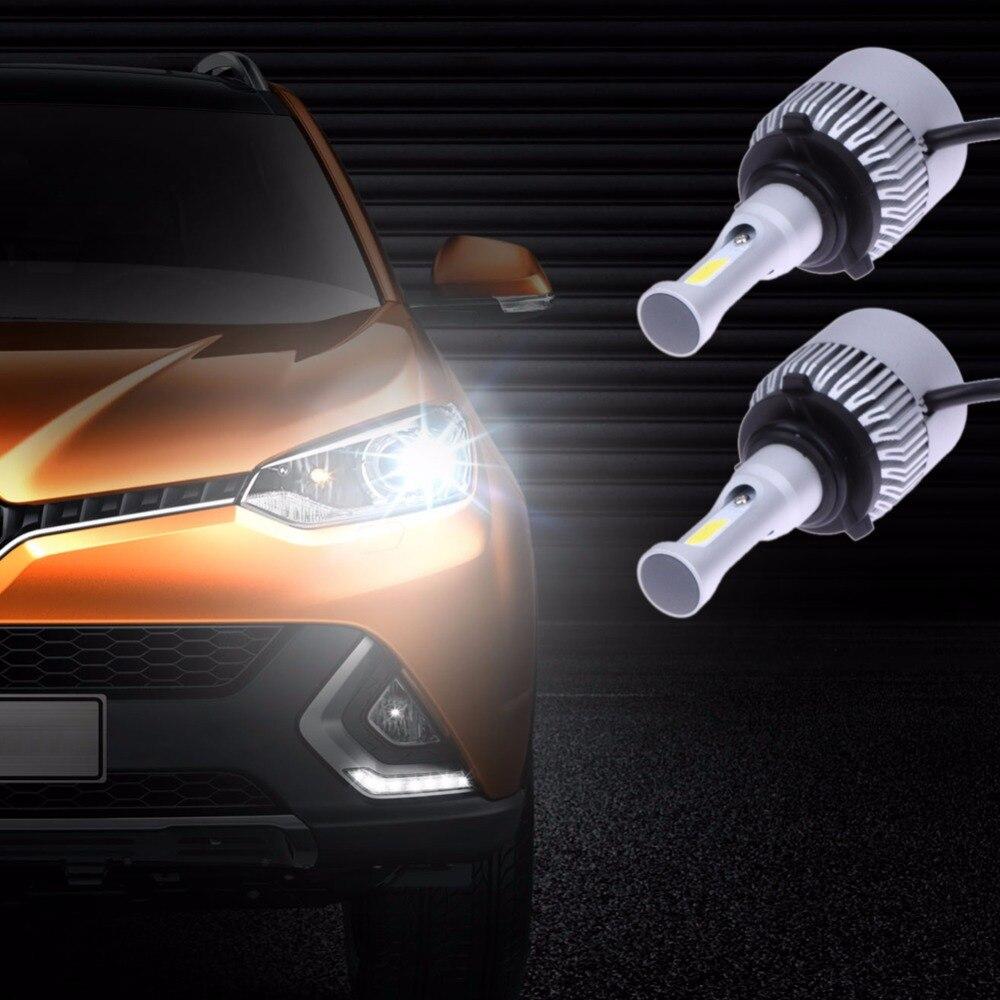 2Pcs Automobiles Headlamp LED Head Light Bulb VTX-S2 9006W COB DC9V-32V Car Headlight Car-styling Light-emitting Diode Lamp