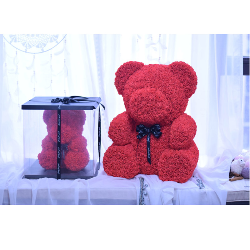 Ingenious 12pcs Romantic Rose Soap Flower Gift Box With Plush Animal Toys Bear Doll #40-27 For Fast Shipping Cleansers