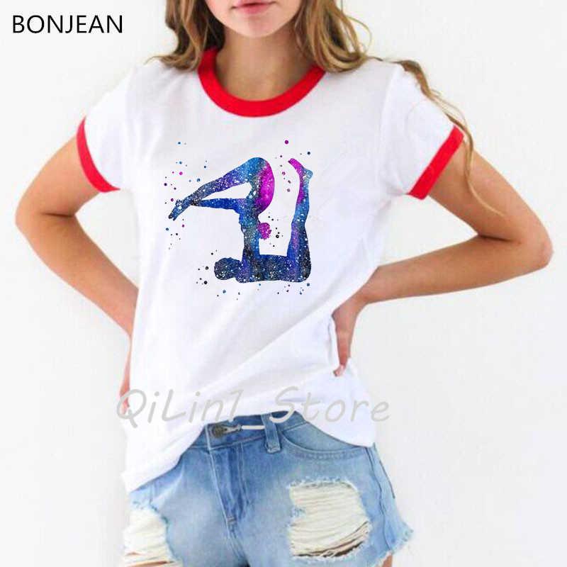2019 lato bluzki kobiety t koszula Vogue para Yo Ga stanowią akwarela drukuj koszulkę femme koreański styl ubrania t-shirt kobiet