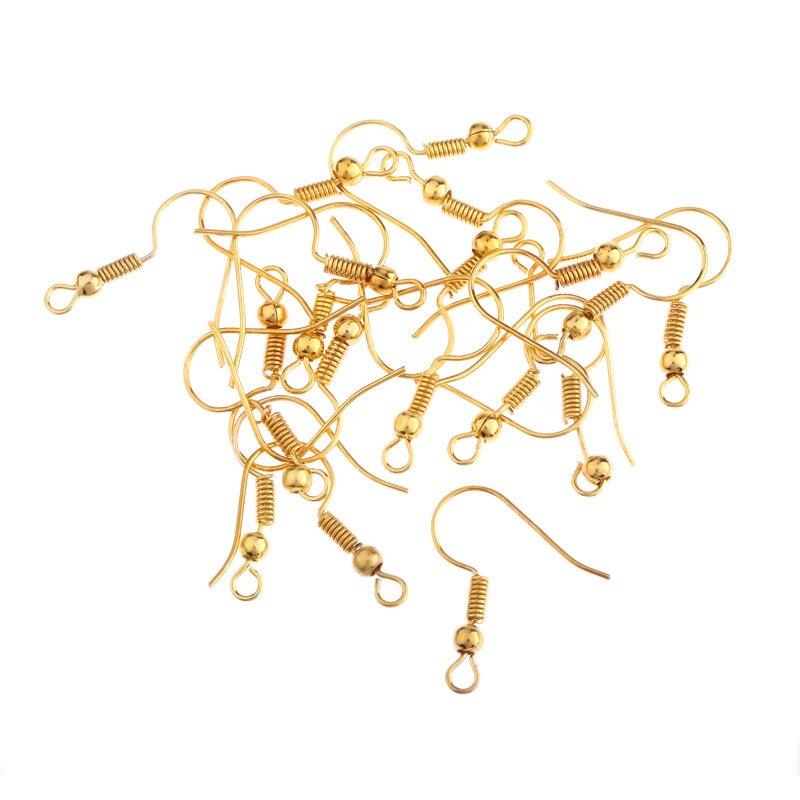 ∞Alta calidad 50 unids plateado oro plateado oído Alambres gancho ...