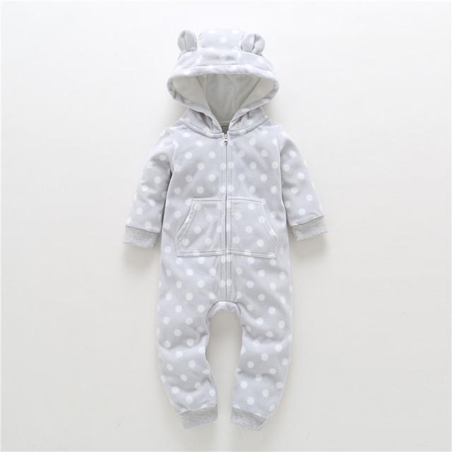 2018 New LimitedUnisex Print Full O-neck Autumn Winter Baby Clothes Boy Overalls Newborn One Piece Romper Girl