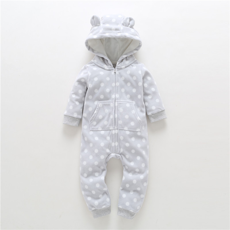 2019 New LimitedUnisex Print Full O-neck Autumn Winter Baby Clothes Boy Overalls Newborn One Piece   Romper   Girl