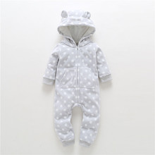 лучшая цена 2017 Autumn Winter Baby Clothes Boy Baby Overalls Wool Newborn Clothes One Piece Romper Baby Girl Clothes