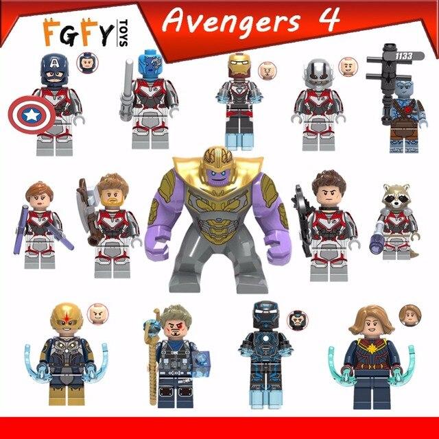 Os Vingadores 4 endgame Série Thanos maravilha Homem De Ferro Thor capitão janela Preta legoing Super-heróis Blocos de Construção de Brinquedos para childen
