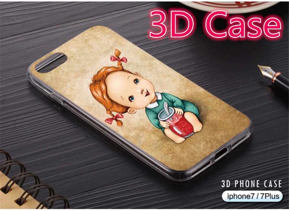 Cute Girl Case For IPhone 6 IPhone 6s Plus 7 5SE Case Ripndipp 3D Pattern Soft