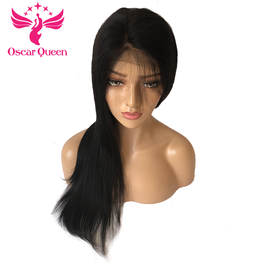 4*4 Straight Remy Hair Lace Front Human Hair Wigs Peruvian Pre Plucked With Baby Hair Bleached Konts 250% Density 10-18