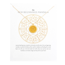 Fashion Round Mandala Pendant Necklace Women Flower Clavicle Chain Choker Necklaces The New Beginnings Mandala Gift Card new beginnings