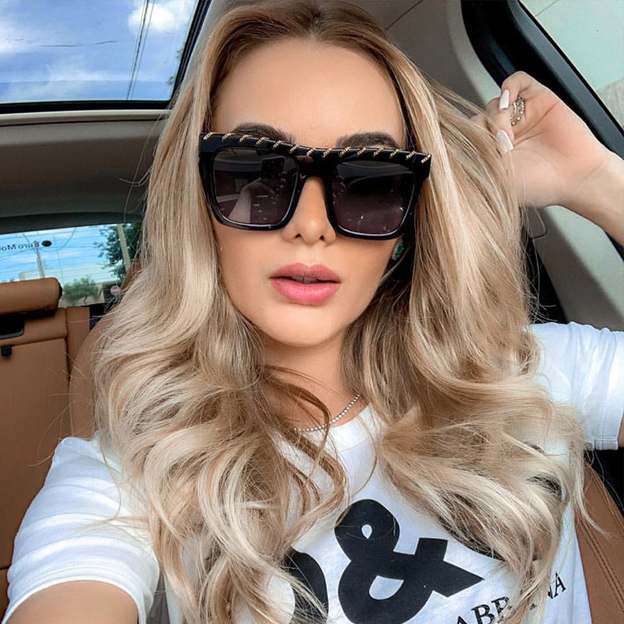 YDO Big Size Sunglasses Women 2019 Square Luxury Brand Vintage  Oversized Sun Glasses Fashion Shades UV400