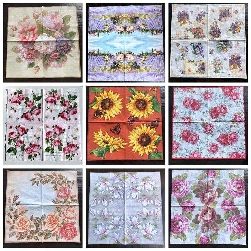 Low price paper napkins decoupage vintage flower napkins decor paper napkins decoupage vintage flower napkins decor floral paper napkin 1 paper mightylinksfo