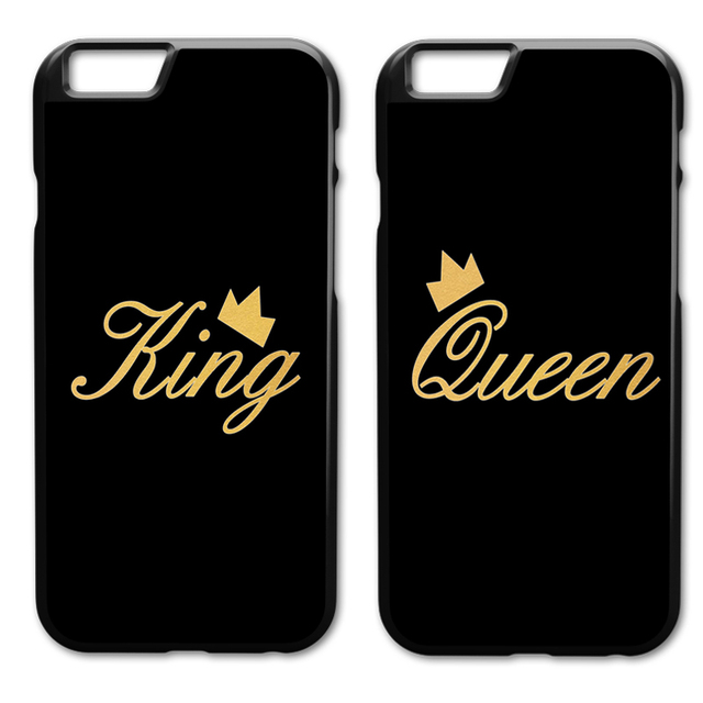 hot sale online d5549 bc877 US $3.98 |King Queen Couple Case for iPhone 5 5S 6 6S 7 8 Plus X XS Samsung  Galaxy S5 S6 S7 Edge S8 S9 Plus-in Fitted Cases from Cellphones & ...