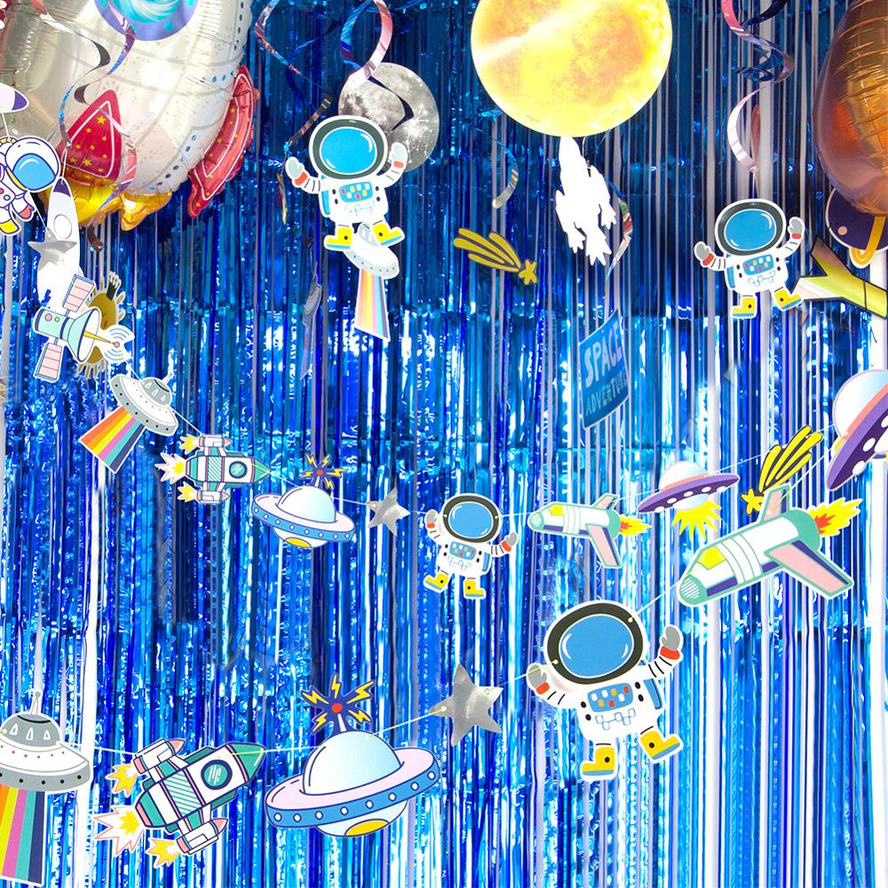 3m Outer Space Adventure Theme Party Decoration Banner Bunting Garland Astronaut Spaceship Rocket Baby Shower Boy Birthday Decor