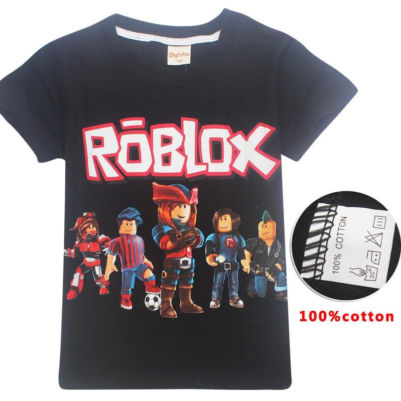 ROBLOX Boys Girls Kids Cartoon Short Sleeve T-shirt Tops Casual Summer Costumes