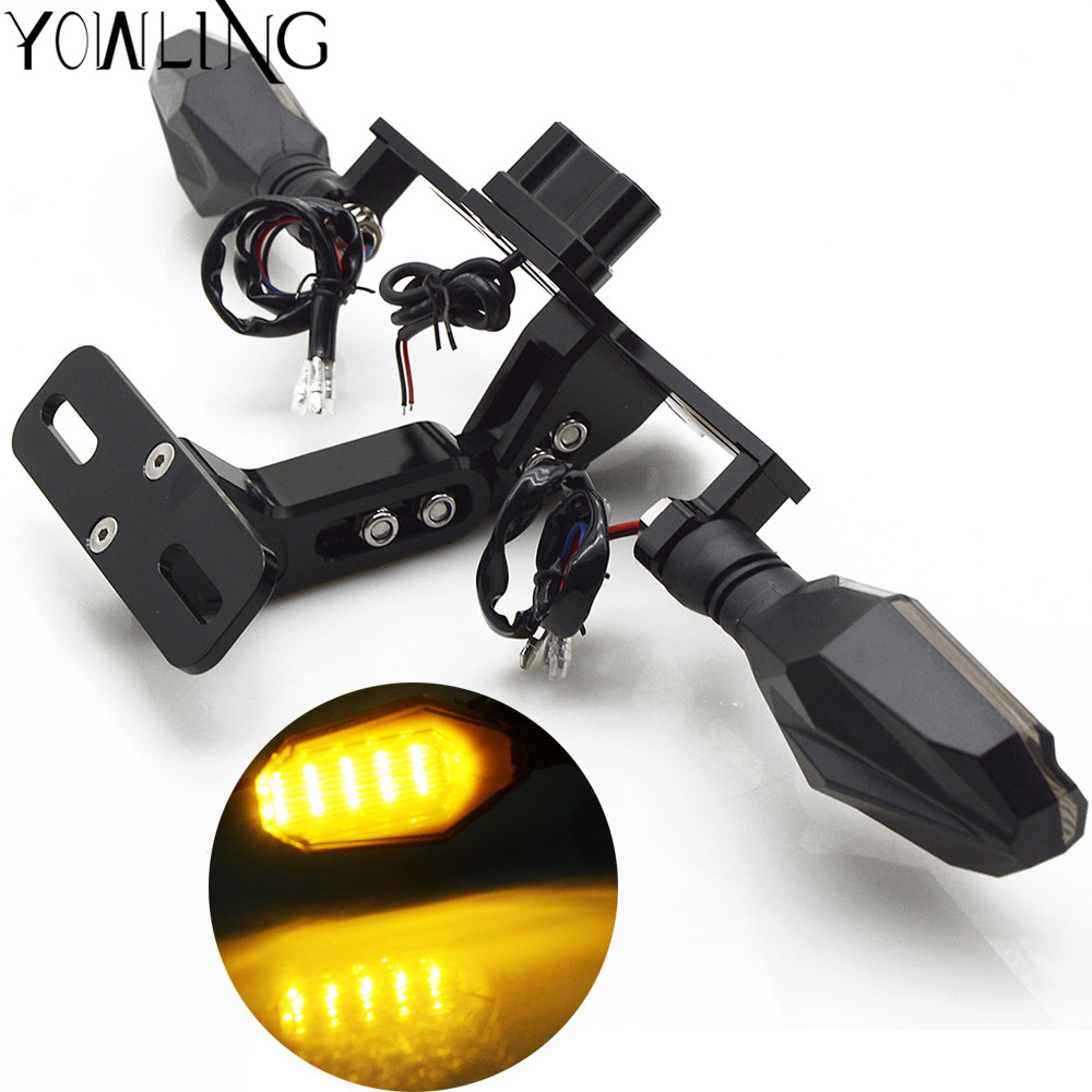 Luz Led Intermitente Licencia De Motocicleta Placa Luces Led Placa Trasera Luz Cafe Racer Led Intermitente Lámpara Para