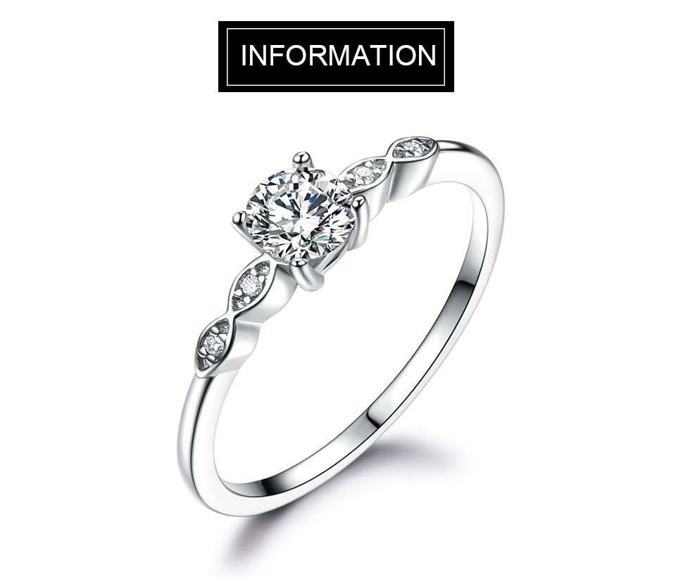 UMCHO Silver 925 Jewelry Luxury Bridal Cubic Zirconia Rings for Women  Solitaire Engagement  Wedding Band Party Gift Jewelry New