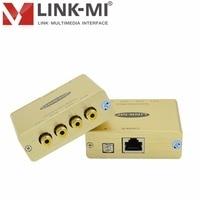 LINK-MI LM-QVB NTSC PAL SECAM Composite Video Quad Video Balun Extender Up to 2200ft Cat5e/6 Cable