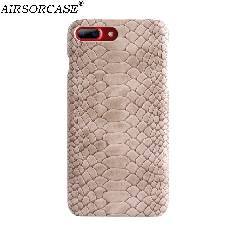 Snake Texture PU Leather Phone Cover for iPhone 8 7 6s 6 Plus Case for iPhone8 6splus 7plus 8plus Case Back Cover Protect Shell