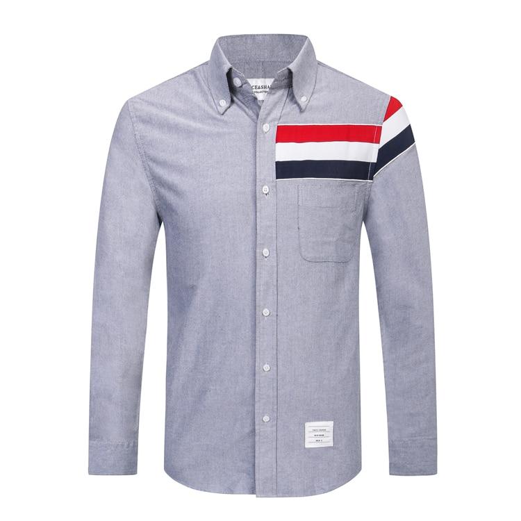 TACE & SAHRK Billionaire t shirt mannen 2017 lancering herfst commerce comfort effen kleur hoge kwaliteit gentleman gratis verzending-in T-shirts van Mannenkleding op  Groep 3