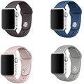 26 colores de silicona de repuesto smart watch correa deporte banda para apple watch aw2ss-1