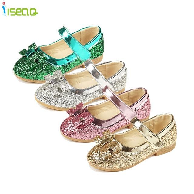 Enfants 2016 Детей Принцесса кожаные ботинки Детей Девушки Свадебные Туфли На Высоких Каблуках Ботинки Платья Партии Обувь Для Девочек