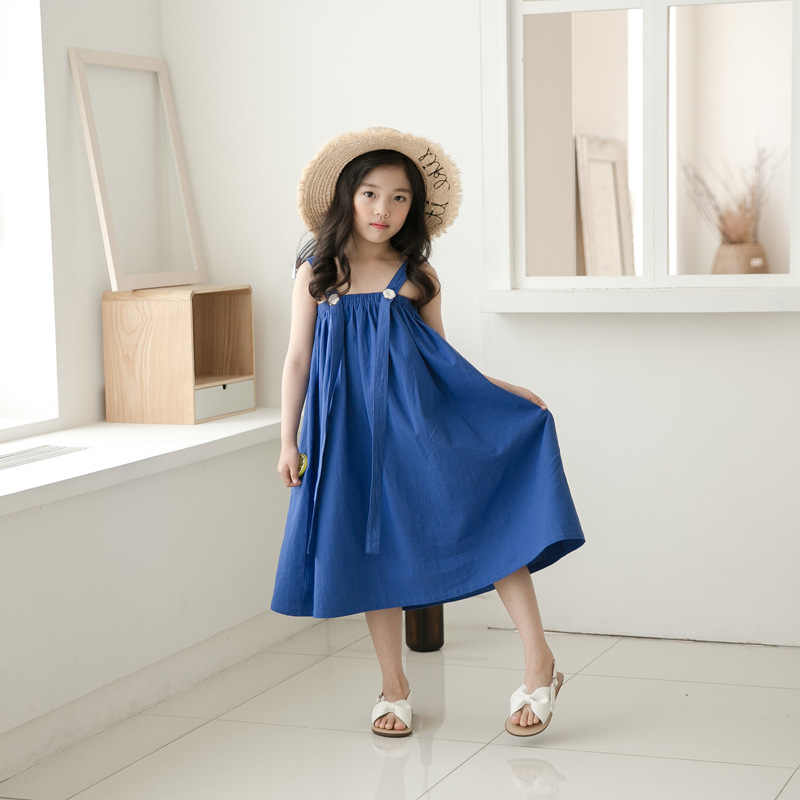 29a04ddd6194 ... Brand Baby Girls Dress Kids Sundress Girls Maxi Dress Summer 2019 New  Children Princess Teenage Kids ...