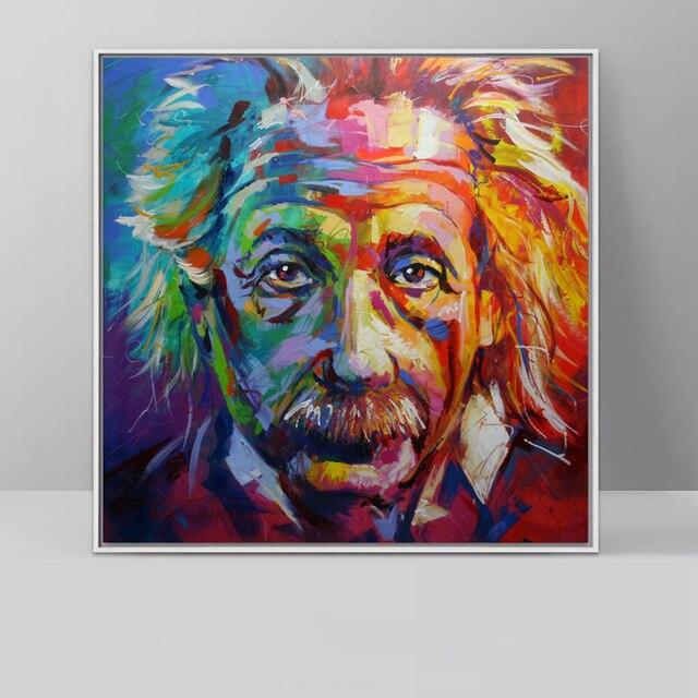Albert Einstein Pop Kunst Leinwand Malerei Wand Kunst Für Wohnzimmer ...