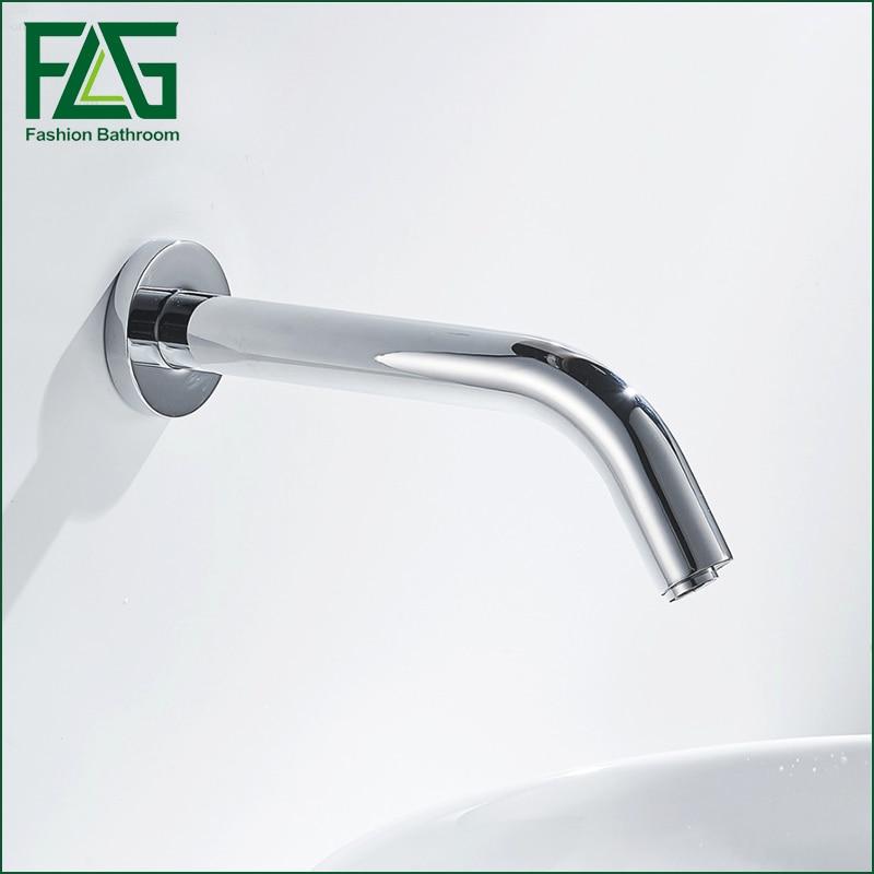 FLG bathroom faucet Cold Sensor Tap No Handle Automatic Water Faucet  Wall Mount Bathroom Basin Faucet china sanitary ware chrome wall mount thermostatic water tap water saver thermostatic shower faucet