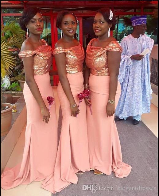 2016 chiffon rose gold bridesmaid dresses mermaid off shoulder 2016 chiffon rose gold bridesmaid dresses mermaid off shoulder cheap wedding party dresses plus size maid junglespirit Gallery