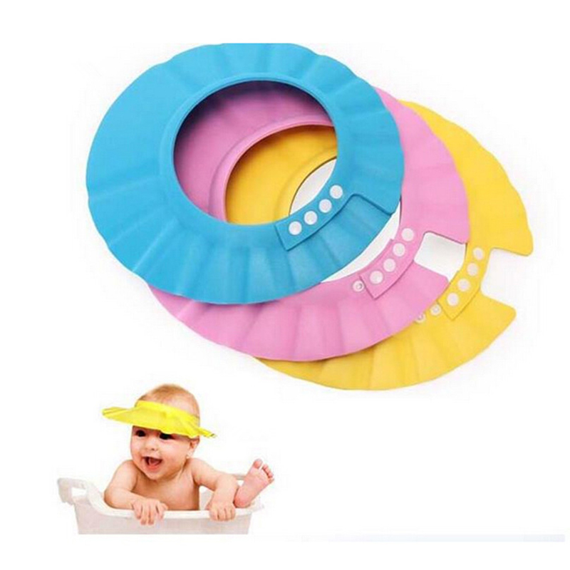 1 PCS/ LOT High Quality Baby Kid Adjustable Soft Shower Cap Hat Protect baby from Shampoo Water for Baby Kids Shampoo Bath Cap