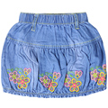2016 Girl's A-line above-knee embroidery floral pattern skirts summer style Jeans for kids girl XML-67085