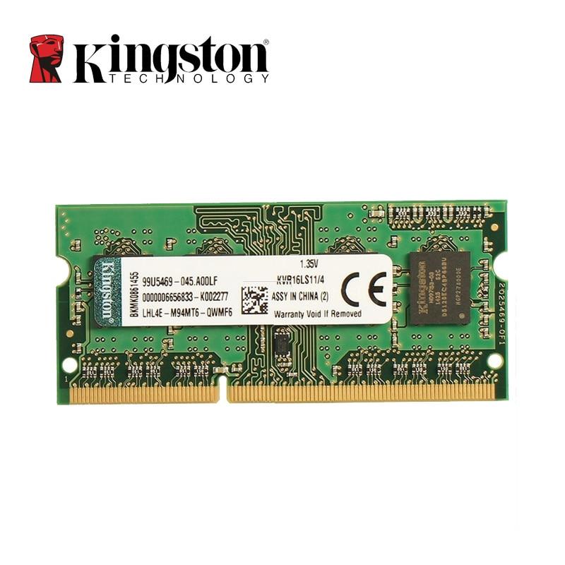 Kingston Memoria RAM DDR3L 8GB 4GB 1600MHz Intel Memory Ram SODIMM Memory Ram Laptop Notebook Memory