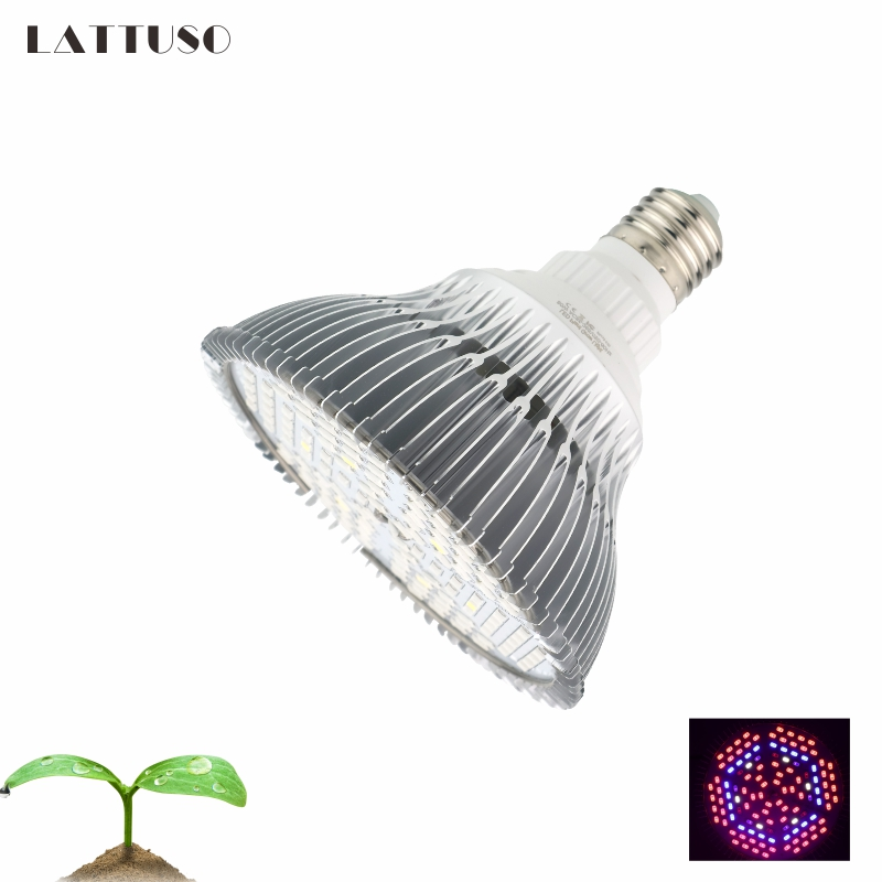 LATTUSO 18W 28W 30W 50W 80W E27 LED Grow Light Hydroponic Lighting For Flower Hydroponics System Indoor Garden Greenhouse Plants
