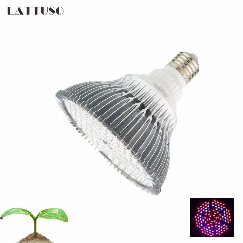 LATTUSO 18W 28W 30W 50W 80W E27 LED Grow Light Hydroponic Lighting For Flower Hydroponics System Indoor Garden Greenhouse Plants