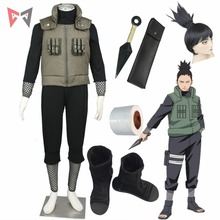 Anime Naruto cosplay Nara Shikamaru Cosplay Costumes vest boot bandage wig for Christmas Halloween child size plus size clotes