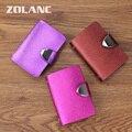 Zolanc 2016 Hot Split Leather Women's Credit Card Holder  Business Card Case 26 Slots Fashion Bank Credit Hasp Girl Card Bag