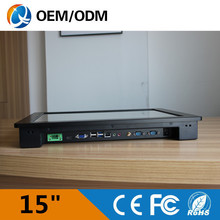 embedded PC 15″ Intel i5-3337U 1.9GHz 2gb ddr3 32g ssd industrial panel pc touch screen Resolution 1024*768 Linux 1*RJ45 2*COM