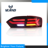 Newest Type 2pcs Car Tail Light for VW Jetta Sagitar LED Tail Light 2012 2013 2014 Rear Lamp Tail Lights