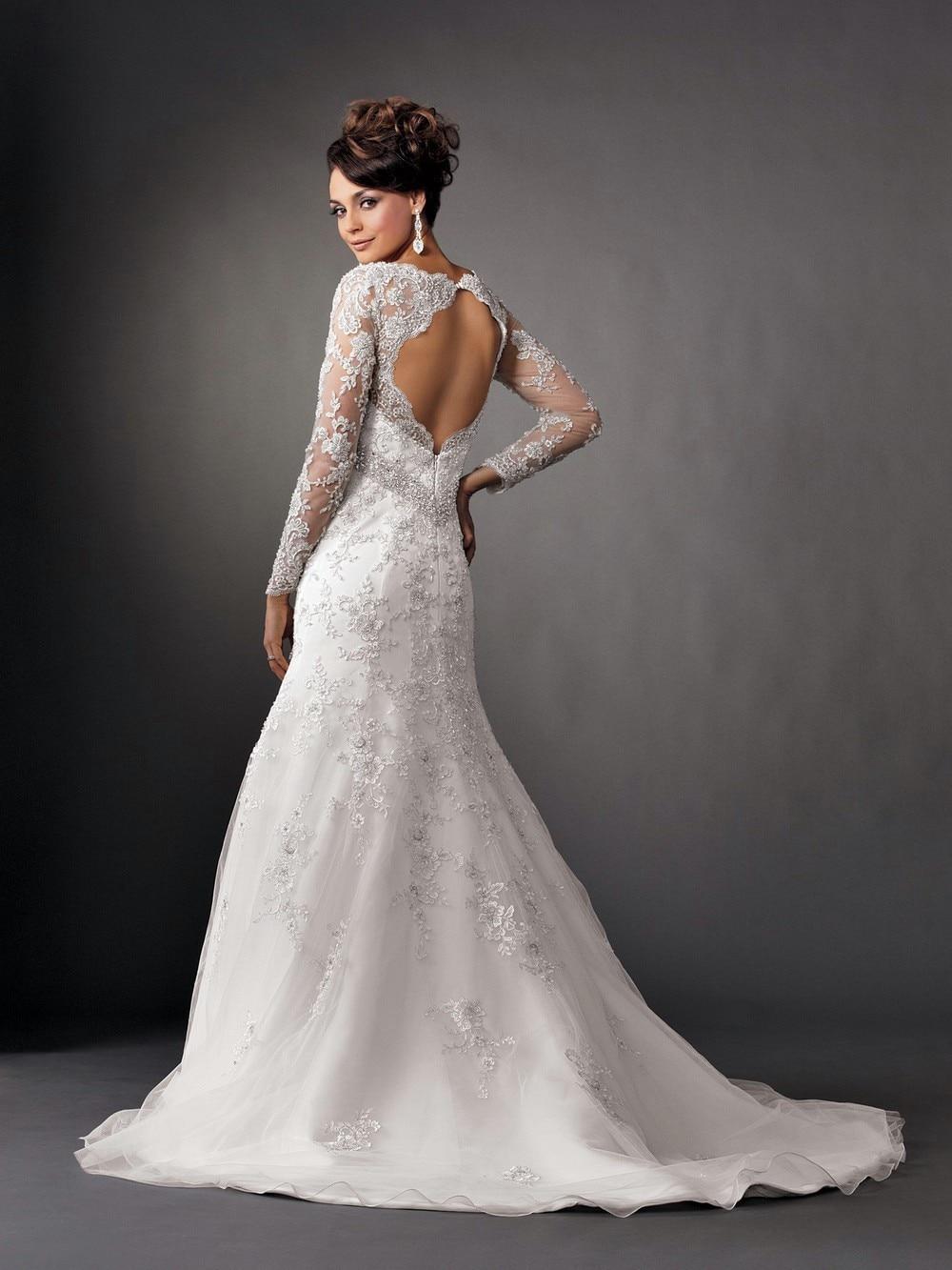 White Sequin Wedding Gown
