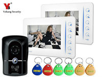 7 Inch Video Door Phone Doorbell Intercom Video Entry Intercom System With Access Card RFID Keypad