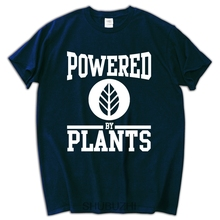"Kick-ass cotton ""Powered by Plants"" t-shirt"