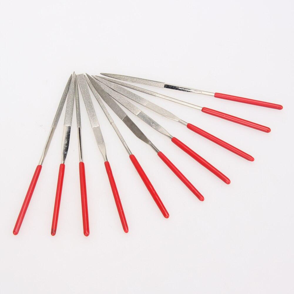 Dateien 10 Stücke 140mm Diamant Mini Nadelfeile Set Handliche Werkzeuge Für Keramik Glas Edelstein Hobby Und Handwerk Tragbare Handwerkzeuge Produkte HeißEr Verkauf