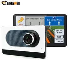 "7 ""IPS Cámara Android GPS Grabador de Vídeo Registrator Coche DVR Bluetooth Quad-core Full HD 1080 P Del Coche de La Rociada leva de Navegación"