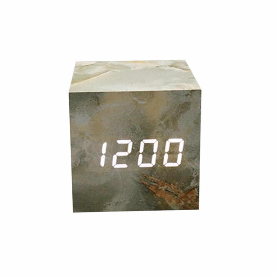 100% Бренд новый высокое качество Голосовое управление календарь термометр деревянный светодиодный цифровой будильник USB/AAA Прямая доставка