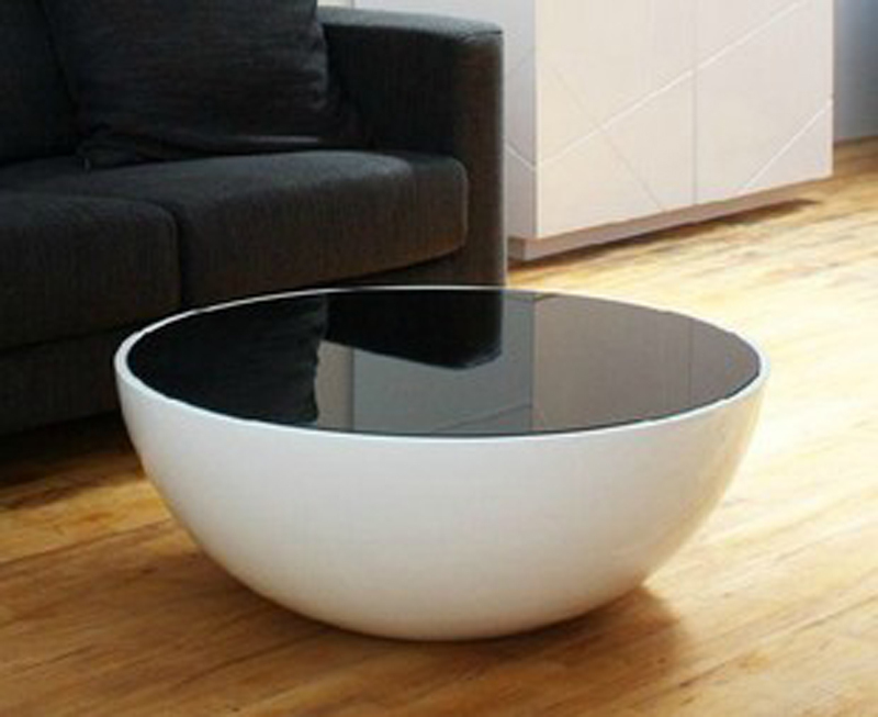 Fashion Clic Coffee Table Living Room Gl Simple Bowl Shaped And Steel In Bar Tables From